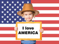 Text I love AMERICA. Royalty Free Stock Photo