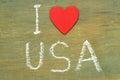 Text i love USA Royalty Free Stock Photo