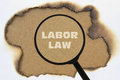 Text Labor Law Royalty Free Stock Photo