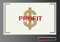 Text profit with dollar symbol in target locked screen Royalty Free Stock Photo