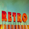 Text  Retro  sign in grunge style Royalty Free Stock Image
