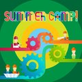 Text sign showing Summer Camp. Conceptual photo Place where children make vacation activities.