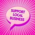 Zobrazené podpora místní obchod