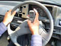 Text SMS while Driving Stock Image