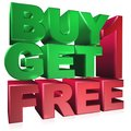 Buy one get one free Royalty Free Stock Photo