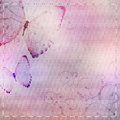 Textile  background with butterfly Royalty Free Stock Photo
