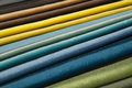 Textile catalogue, colorful fabric samples Royalty Free Stock Photo