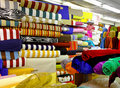 Textile fabric rolls Stock Photo