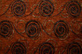 Textile fabric texture anemon rust brown color pattern in high resolution Stock Image
