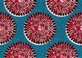 Textile fashion african print Royalty Free Stock Photo