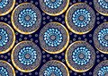 Textile fashion african print fabric super wax Royalty Free Stock Photo