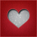 Textile heart Royalty Free Stock Photography