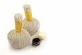 Textile massage spa compress balls Royalty Free Stock Photo