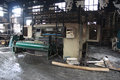 Textile mill fire scene industrial plant after a Royalty Free Stock Photography