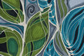 Textile painting dynamic lines Royalty Free Stock Photo