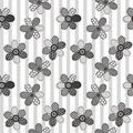 Textile patchwork flowers background Royalty Free Stock Images