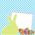 Textile patchworks Easter card Stock Photo