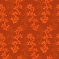 Textile pattern red floral with overlay Royalty Free Stock Photography