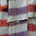 Textile with squares pattern Royalty Free Stock Photo