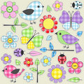 Textile stickers Stock Photos