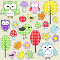 Textile stickers Stock Image