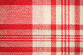 Textile surface. Red and white cloth texture Royalty Free Stock Photo