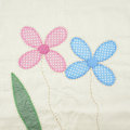 Textile texture pink and blue floral from pillowcase Stock Photo