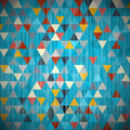 Textile triangle background blue abstract retro Stock Images