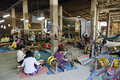 Textile weaving workshop siem reap cambodia Royalty Free Stock Photo
