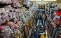 Textiles deposit Stock Images