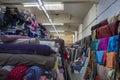 Textiles deposit Royalty Free Stock Photo