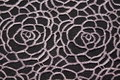 Textiles lace and white patterns on a black background Stock Photos