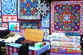 Textiles in old market in cairo in egypt Royalty Free Stock Photography