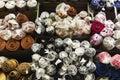 Textiles rolls Stock Image