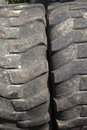 Texture of bald truck tire close up in java part series interesting textures and backgrounds Stock Images