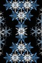 Texture of beautiful snowflakes Royalty Free Stock Image