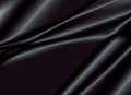 Texture of a black silk fabric Royalty Free Stock Photo