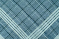 Texture Of Blue Gingham Fabric.