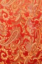 Texture Of Bright Red Fabric W...