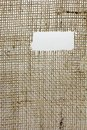 Texture of Burlap hessian  with frayed edges Royalty Free Stock Photo