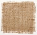 Texture of Burlap hessian square with frayed edges Royalty Free Stock Photo
