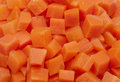 of texture of chopped carrot in squares