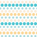 Texture circles stripes abstract seamless pattern vector background with hand drawn elements Stock Photography
