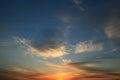 Texture clouds sunset eternity blue Stock Photos