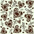 Texture. Coffee heart