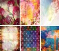 Texture Collection Abstract Set of 6 Royalty Free Stock Photos