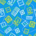 Texture with computer icons for design Royalty Free Stock Photo