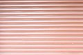 Texture corrugated metal sheet,Slide door ,steel door Royalty Free Stock Photo
