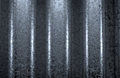 Texture of corrugated stainless steel sheet Royalty Free Stock Photo