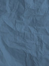 Texture of crumpled paper sheet navy blue textured background Stock Images